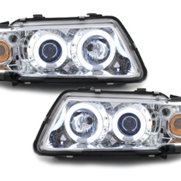 Audi-A3-8L-96-00-Faróis-Angel-Eyes-Fundo-Cromado-CCFL-2