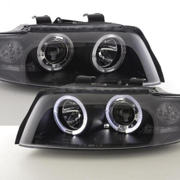 Audi-A4-B6-LimAvant-00-04-Faróis-Angel-Eyes-Pretos-1
