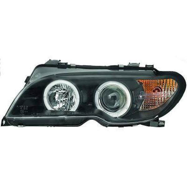BMW-Serie-3-E46-Cabrio-03-07-Faróis-Angel-Eyes-Preto