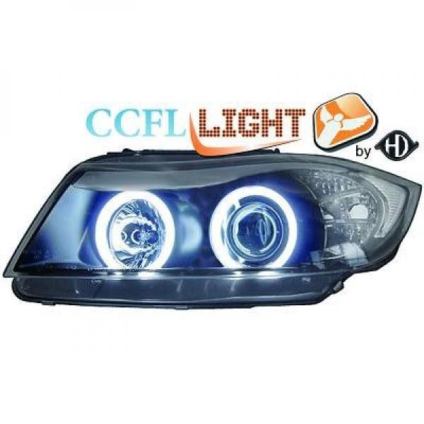BMW-Serie-3-E91-05-11-Faróis-Angel-Eyes-CCFL-Pretos