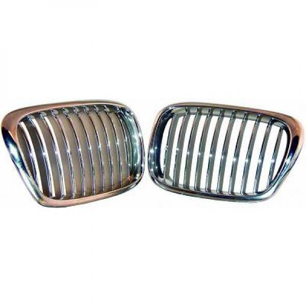 BMW-Serie-5-E39-95-03-Grelha-Central-Cromada