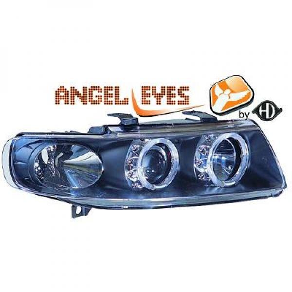 Seat-Leon-1M-99-04-Faróis-Angel-Eyes-Fundo-Preto