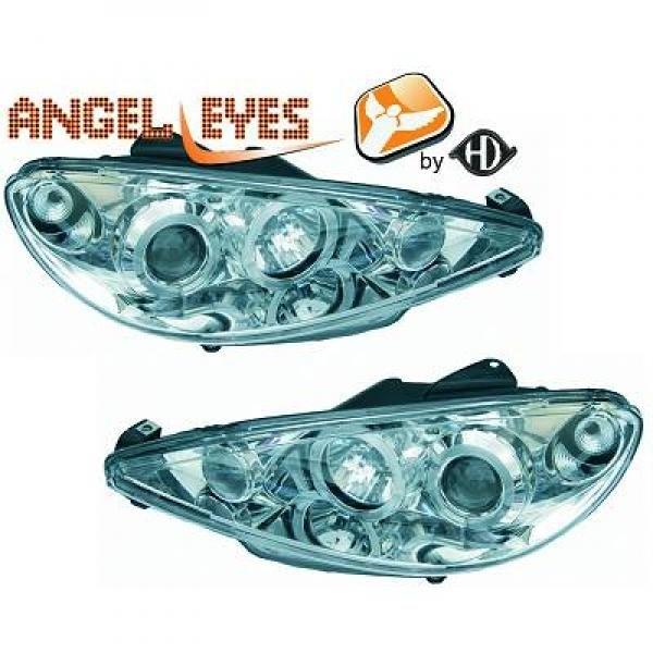 Peugeot-206-98-08-Faróis-Angel-Eyes-Cromados