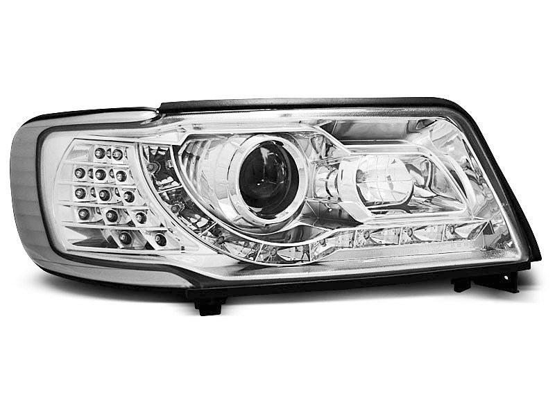 Audi-100-90-94-Faróis-Dayline-Fundo-Cromado