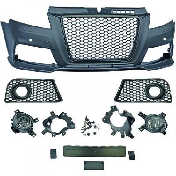 Audi-A3-8P3-08-12-Para-choques-RS3-Grelha-Favo-de-Mel-Preta-1