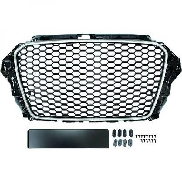 Audi-A3-8V-12-16-Grelha-RS3-Favo-de-Mel-Cromada-p-sensores