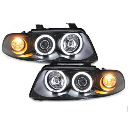 Audi-A4-B5-LimAvant-96-00-Faróis-Angel-Eyes-CCFL-Pretos-1