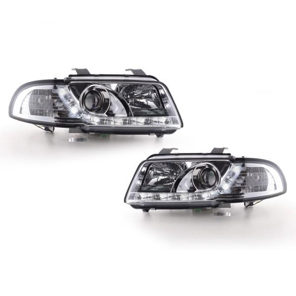 Audi-A4-B5-LimAvant-96-00-Faróis-Angel-Eyes-Dayline-Cromados-1