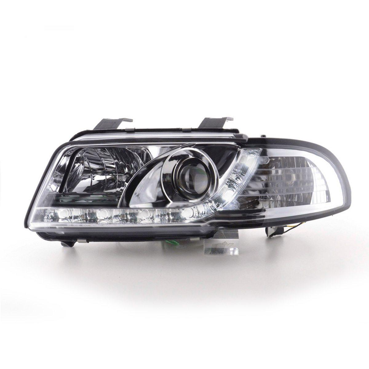 Audi-A4-B5-LimAvant-96-00-Faróis-Angel-Eyes-Dayline-Cromados-2