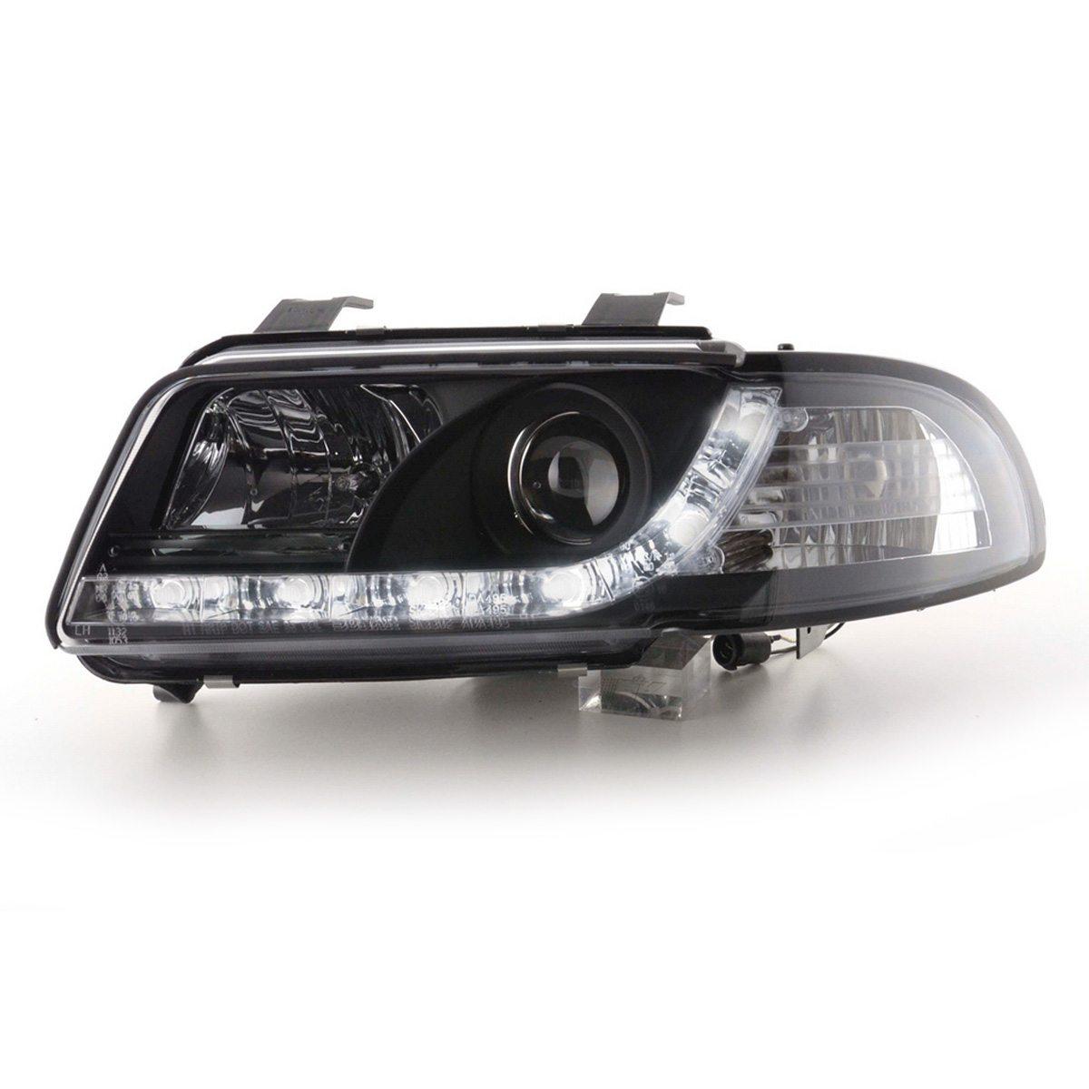 Audi-A4-B5-LimAvant-96-00-Faróis-Angel-Eyes-Dayline-Pretos-2