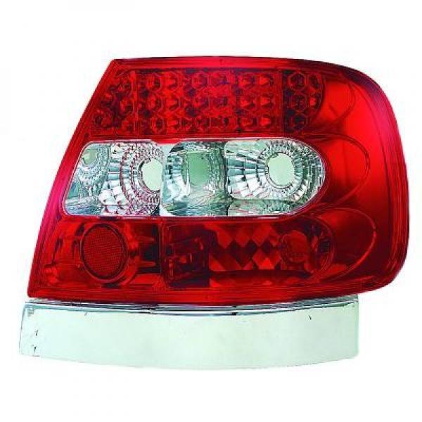 Audi-A4-B5-Limousine-94-00-Farolins-Cristal-Vermelho-LED