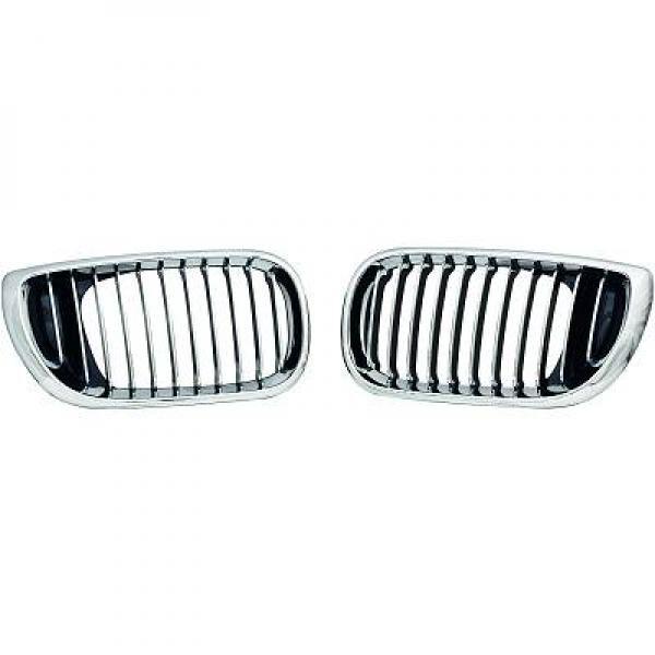 BMW-Serie-3-E46-01-05-Grelhas-Central-Cromadas
