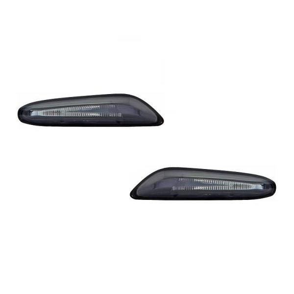 BMW-Serie-3-E91-LCI-08-11-Piscas-Cristal-Laterais-Escurecidos-em-LED