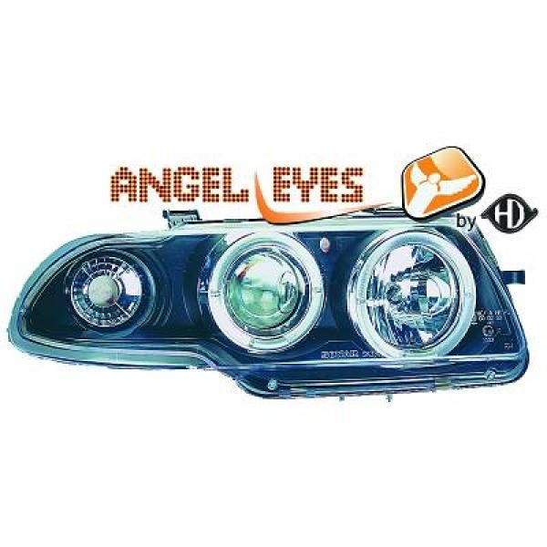 Opel-Astra-F-94-98-Faróis-Angel-Eyes-Fundo-Preto