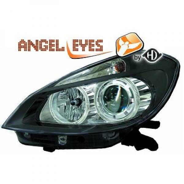 Renault-Clio-05-09-Faróis-Angel-Eyes-Pretos-v.2