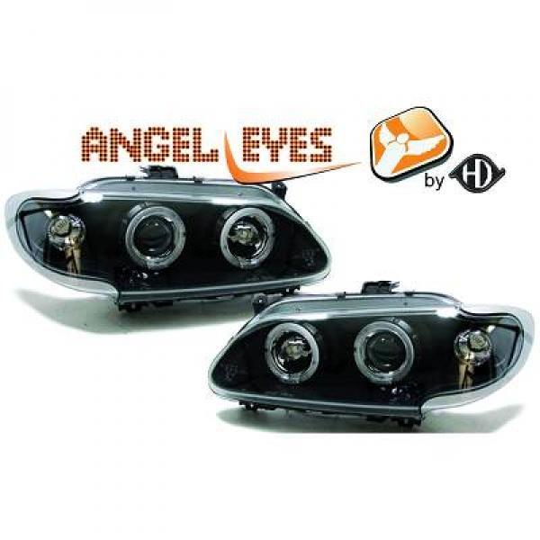 Renault-Mégane-96-99-Faróis-Angel-Eyes-Pretos