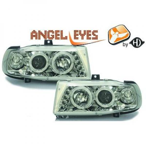 Seat-Ibiza-6K-93-99-Faróis-Angel-Eyes-Fundo-Cromado