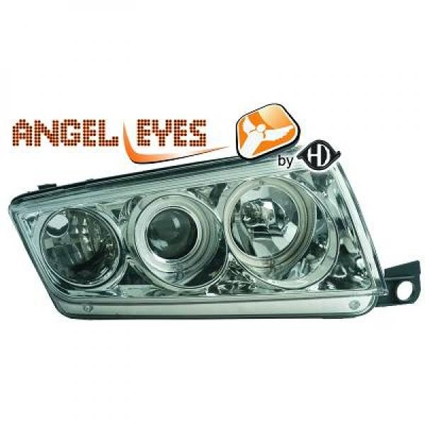 Skoda-Fabia-99-07-Faróis-Angel-Eyes-Cromados
