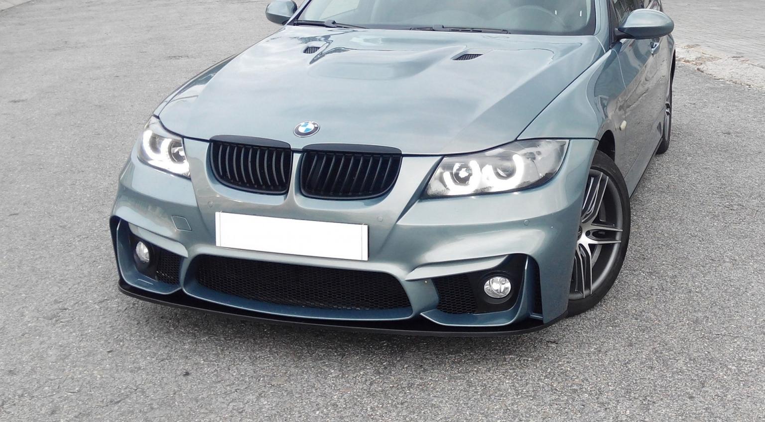BMW-Serie-3-05-08-Para-choques-Frente-Look-M4-com-Rede