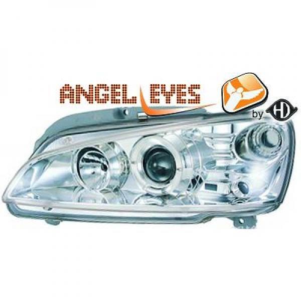 Peugeot-106-96-05-Faróis-Angel-Eyes-Cromados