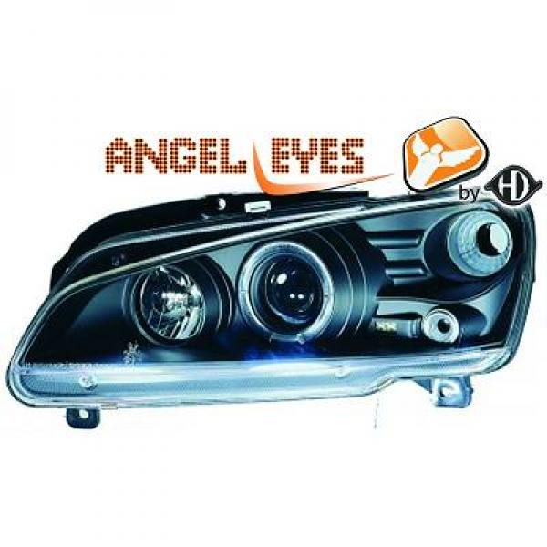 Peugeot-106-96-05-Faróis-Angel-Eyes-Pretos
