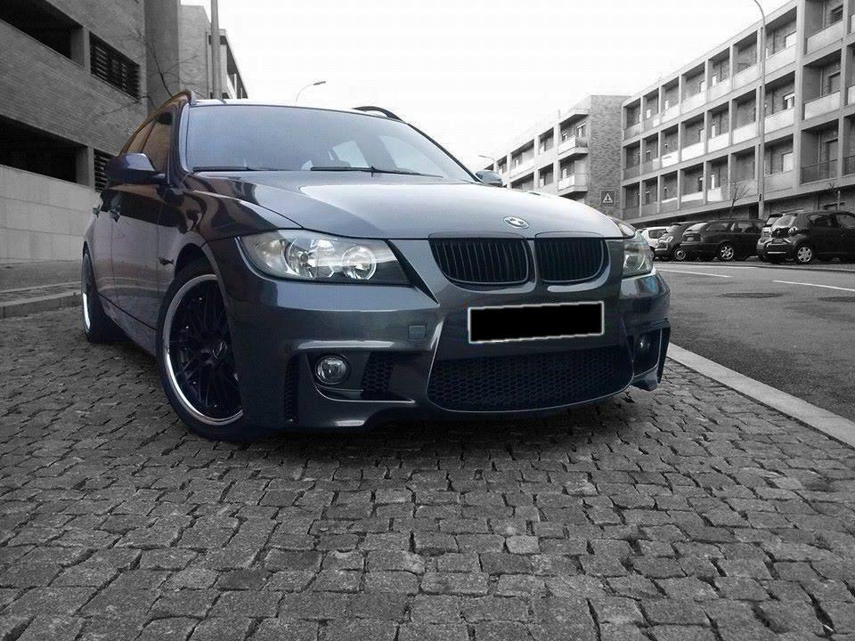 BMW-Serie-3-E91-05-08-Para-choques-Frente-Look-M1